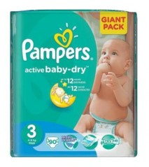 Pampers Active Baby 3 midi 4-9 кг (90шт)
