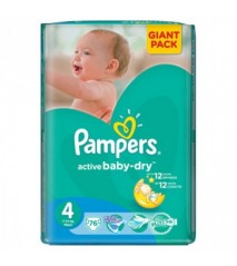 Pampers Active Baby 4 maxi 7-14 кг (76шт)