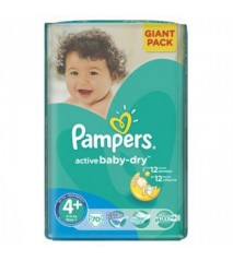 Pampers Active Baby 4+ maxi+ 9-16 кг (70шт)