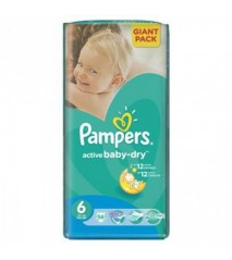 Pampers Active Baby 6 junior Extra/XL 16+кг (56шт)